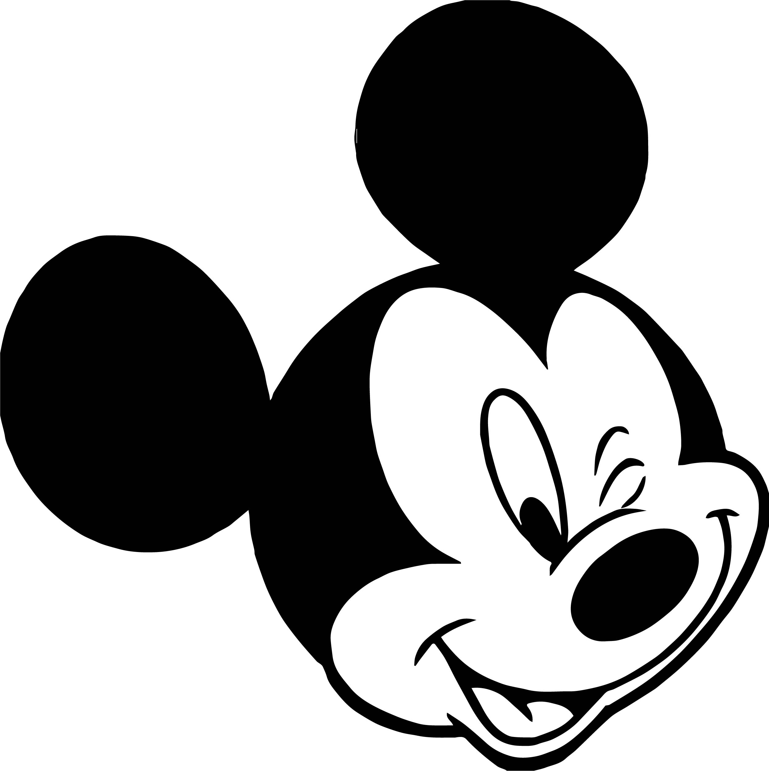 Animal Kingdom Mickey Mouse Face Coloring Page | Wecoloringpage
