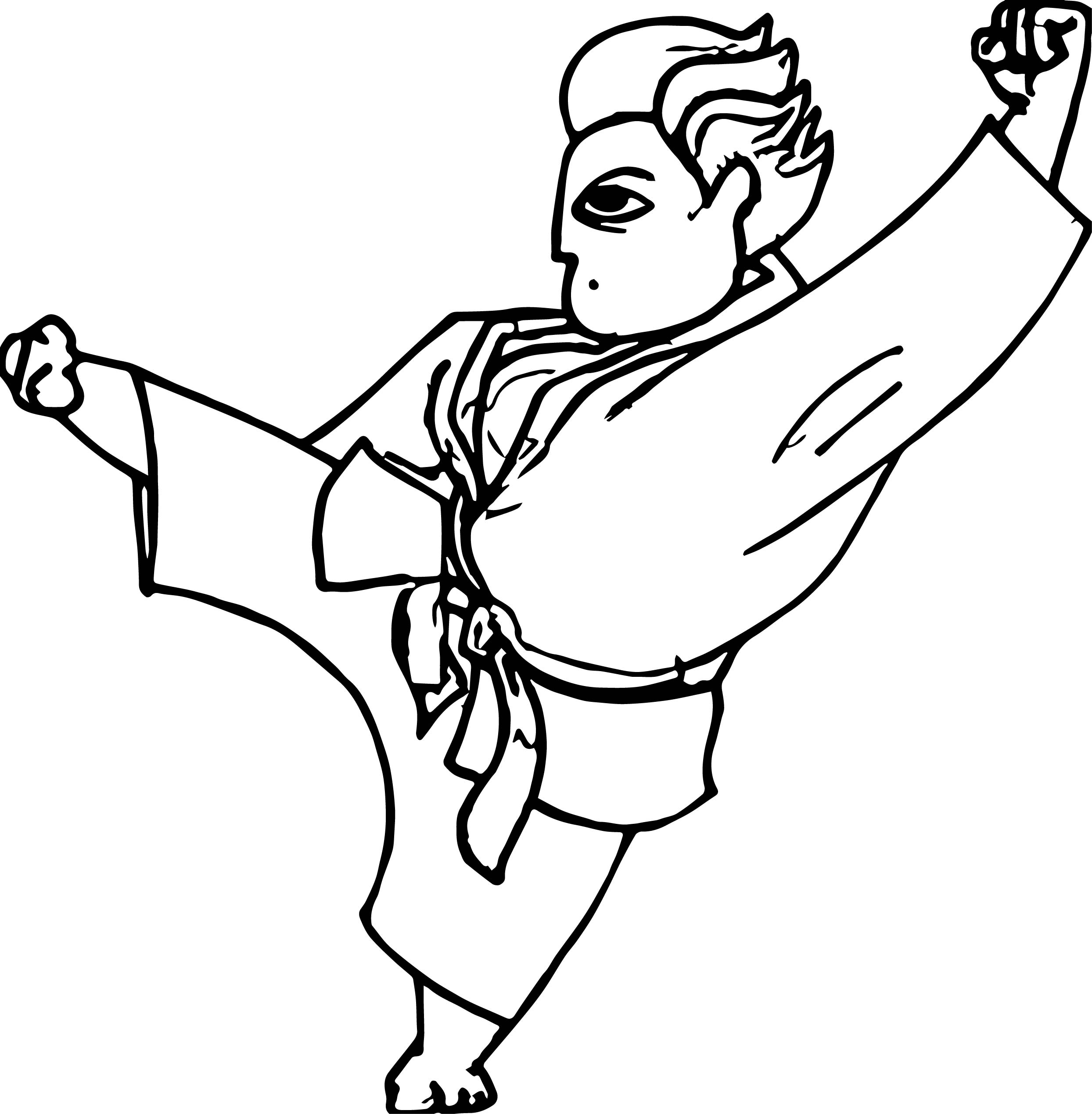Anime Fighting Man Coloring Page