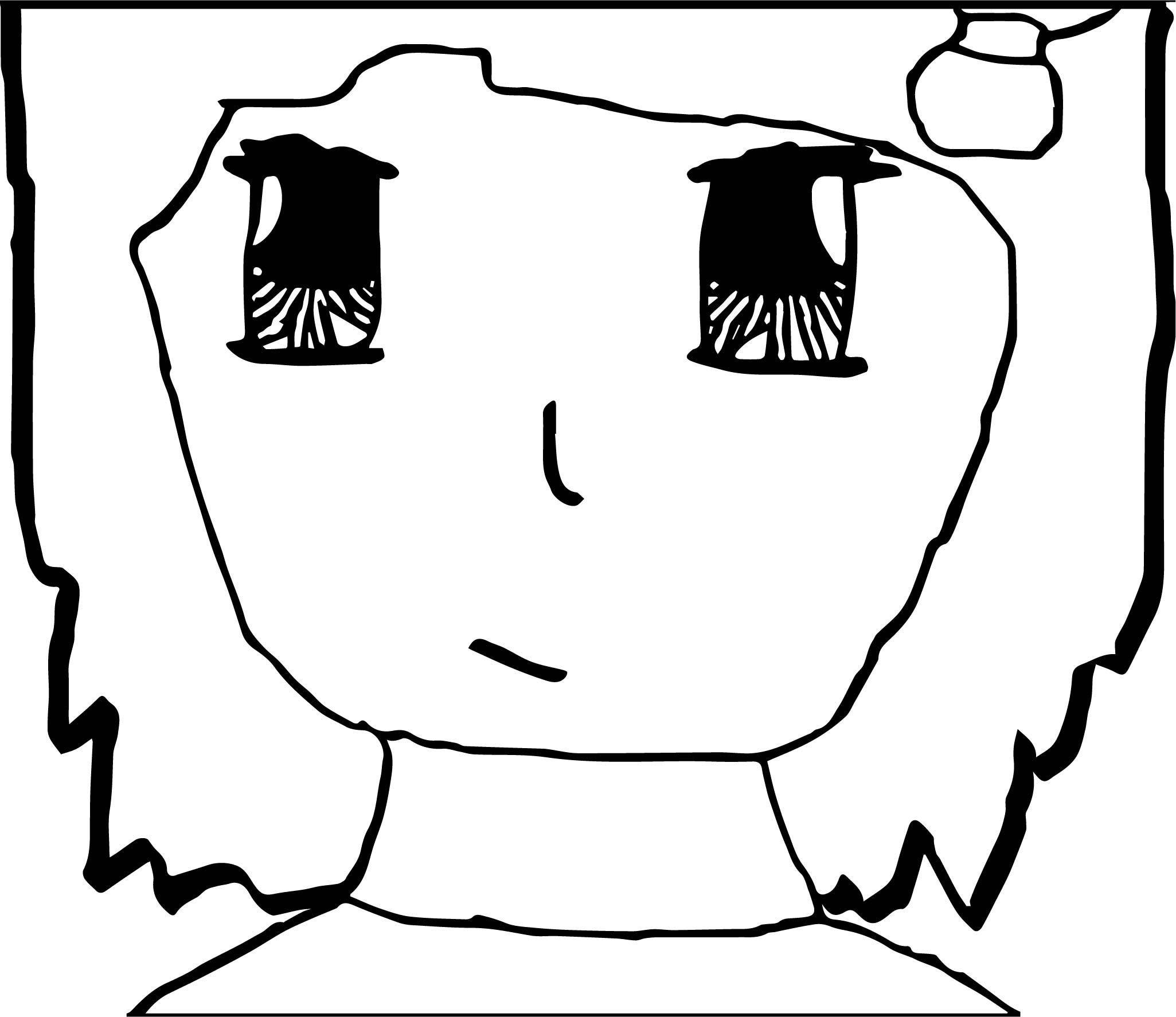 Anime Girl Face Coloring Pages