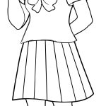 Anime Girl Peace Coloring Page