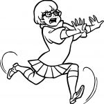 Anime Girl Running Coloring Page