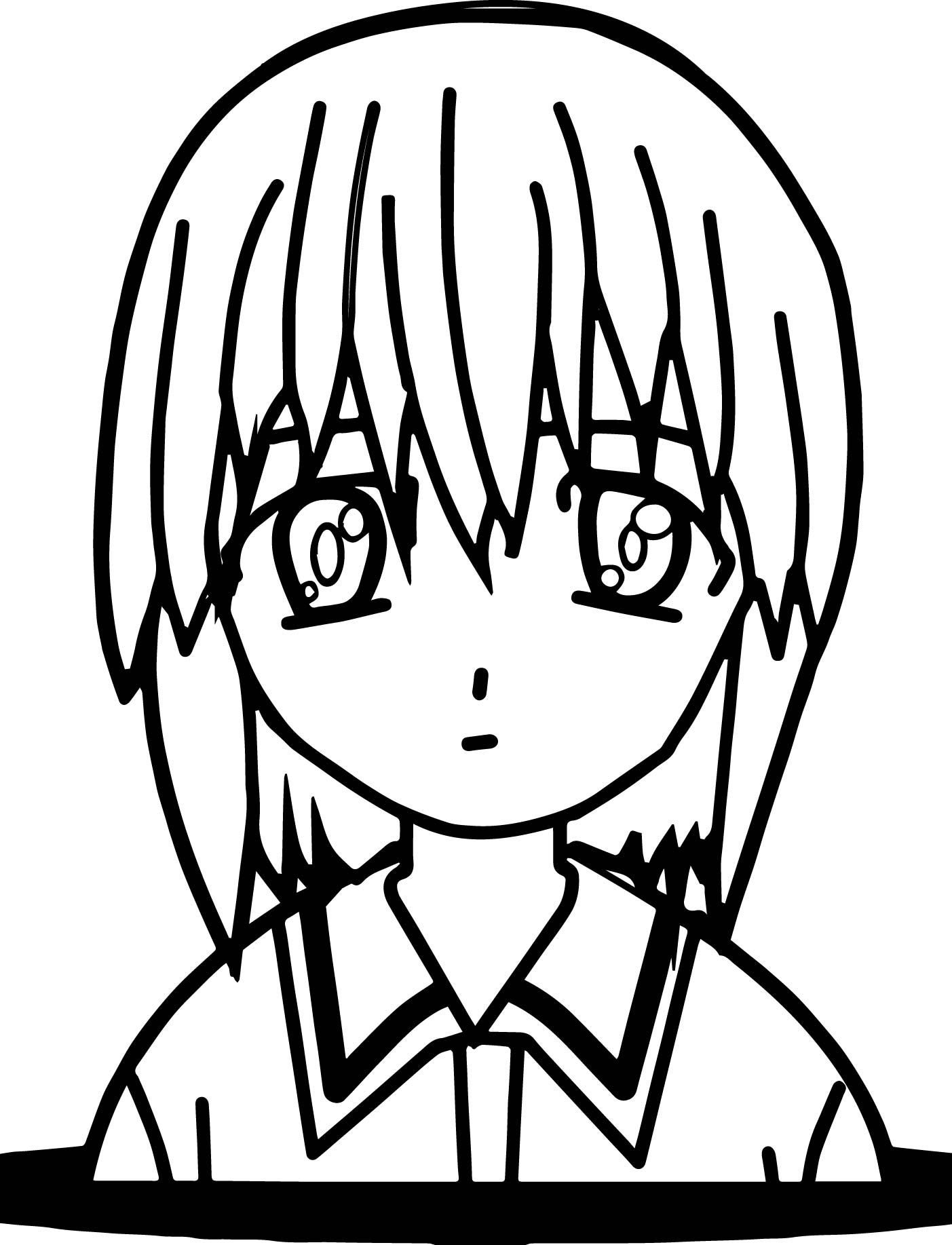 Anime Student Coloring Page