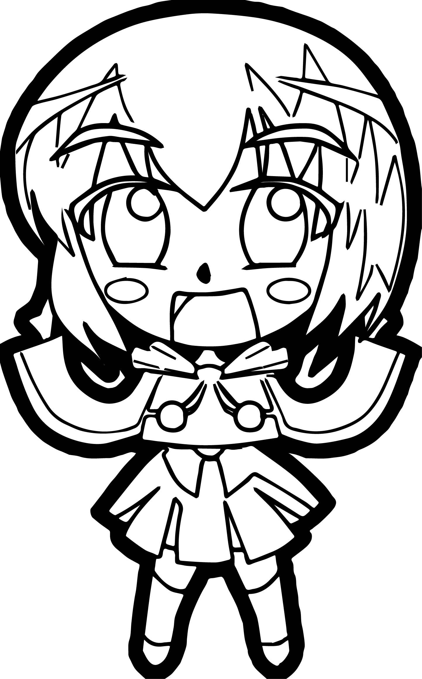 Anime Toy Girl Coloring Page
