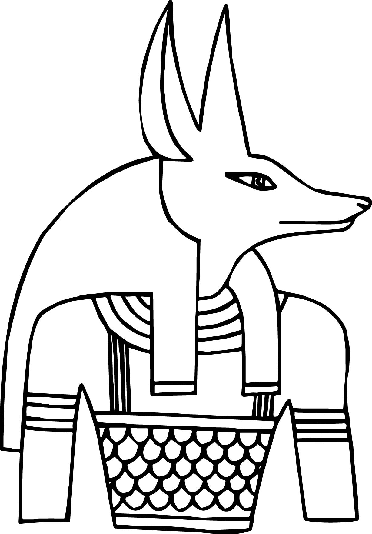 Egyptian Deity Coloring Pages