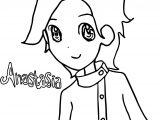 Anya Anastasia Girl Coloring Page
