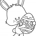 April Easter Bunny Coloring Page