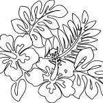 April Flower Nature Coloring Page