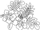 April Flower Nature Coloring Page
