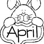 April Fool Bunny Coloring Page