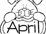 April Fool Bunny Coloring Page