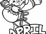 April Fool Child Coloring Page