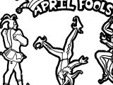 April Fool Circus Coloring Page