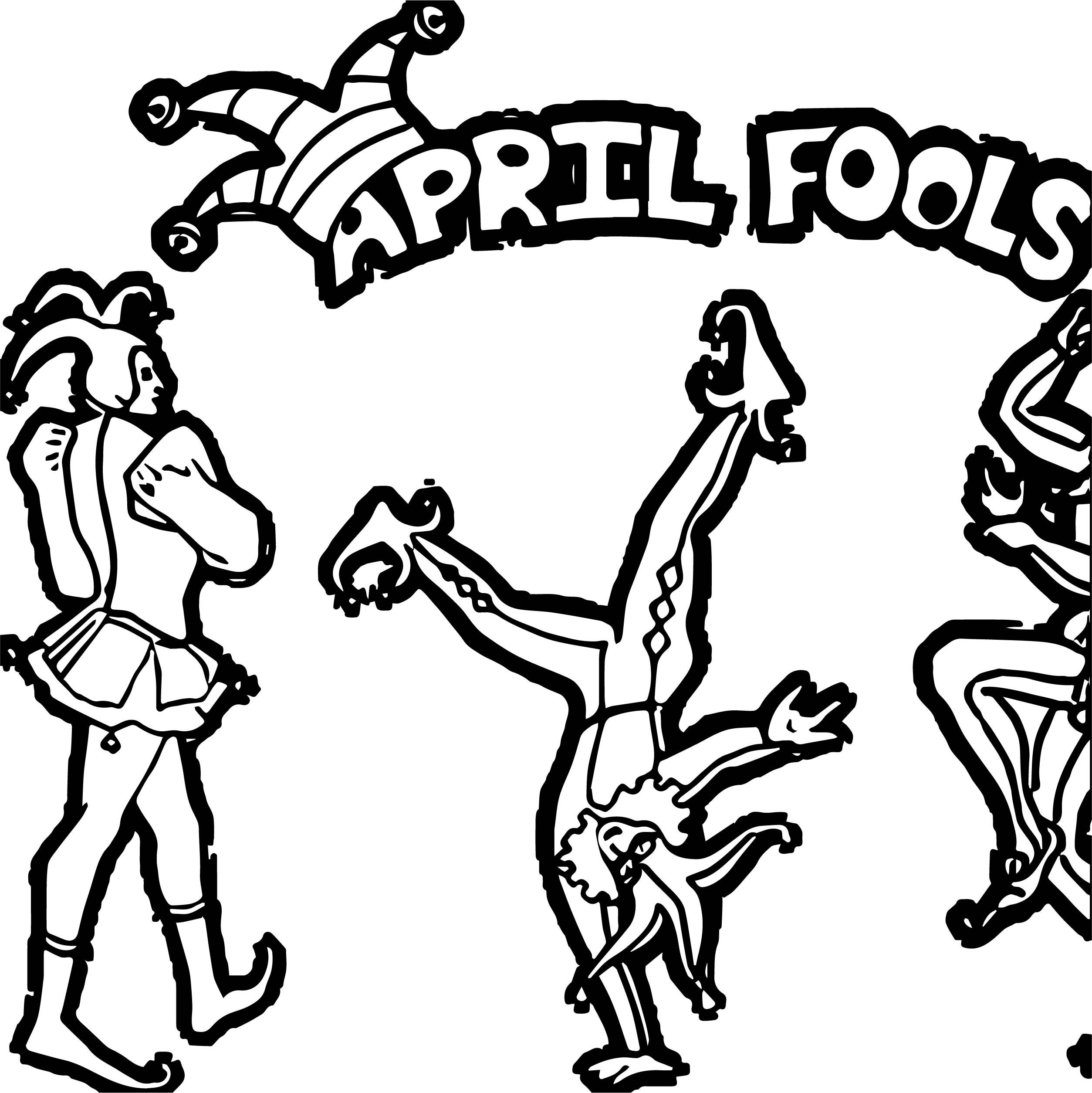 April Fool Circus Coloring Page
