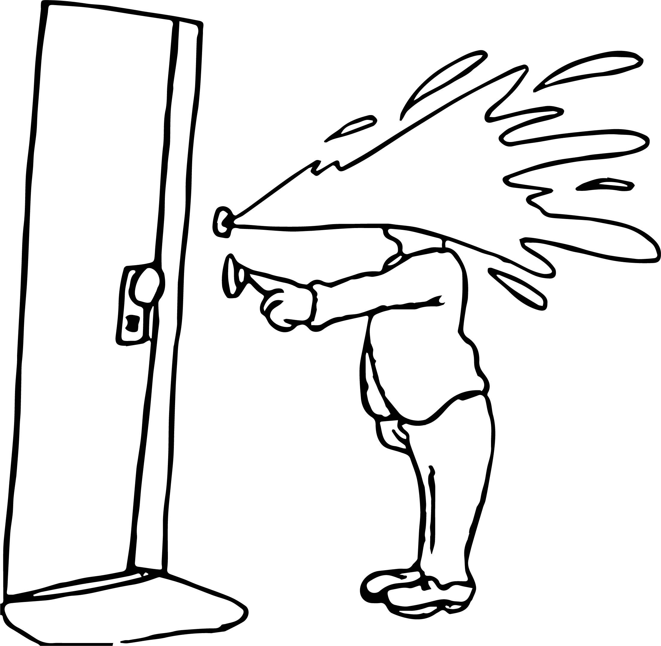 April Fool Door Joke Coloring Page