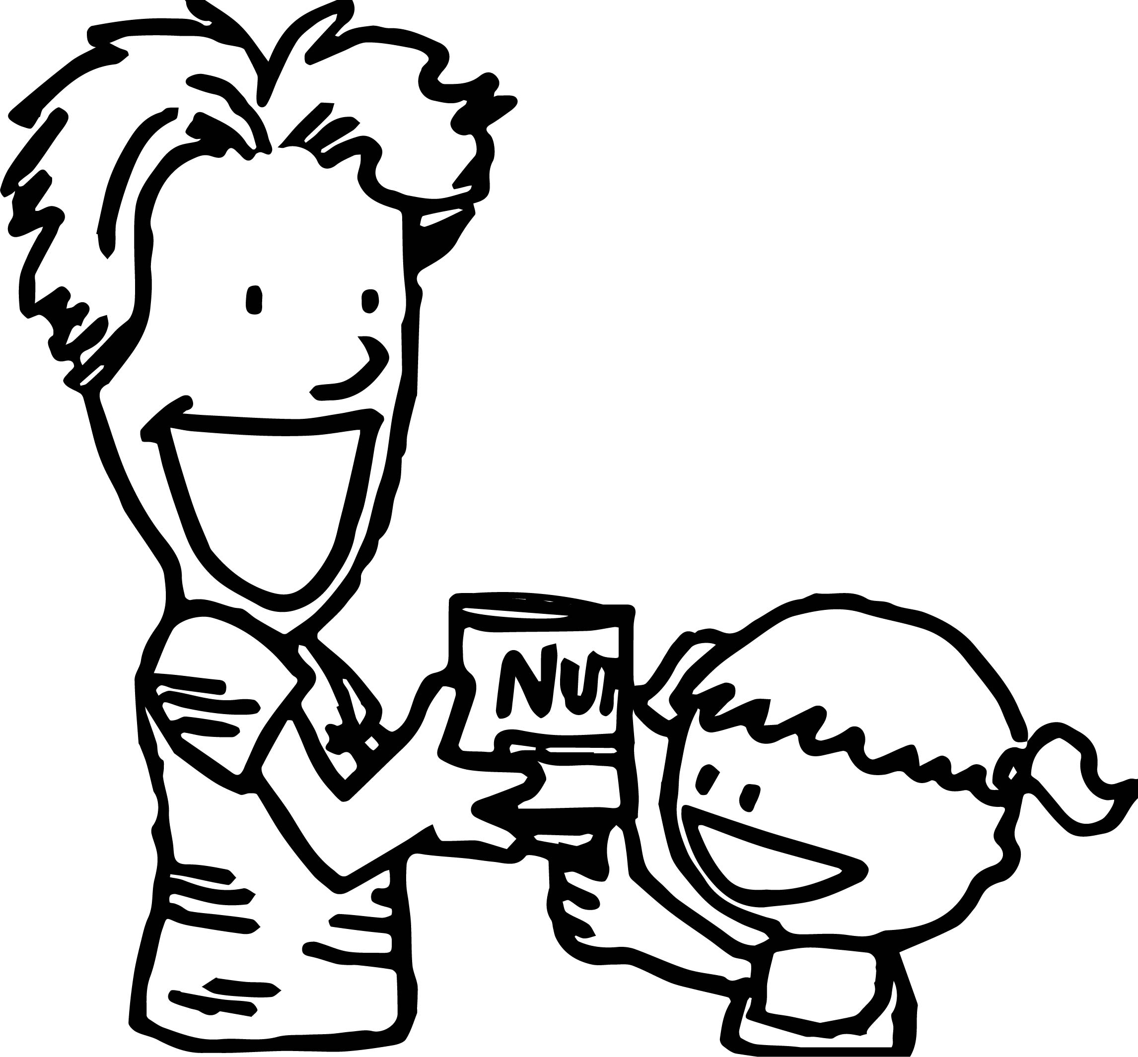 April Fool Family Nut Coloring Page
