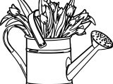 April Shower Bucket Coloring Page