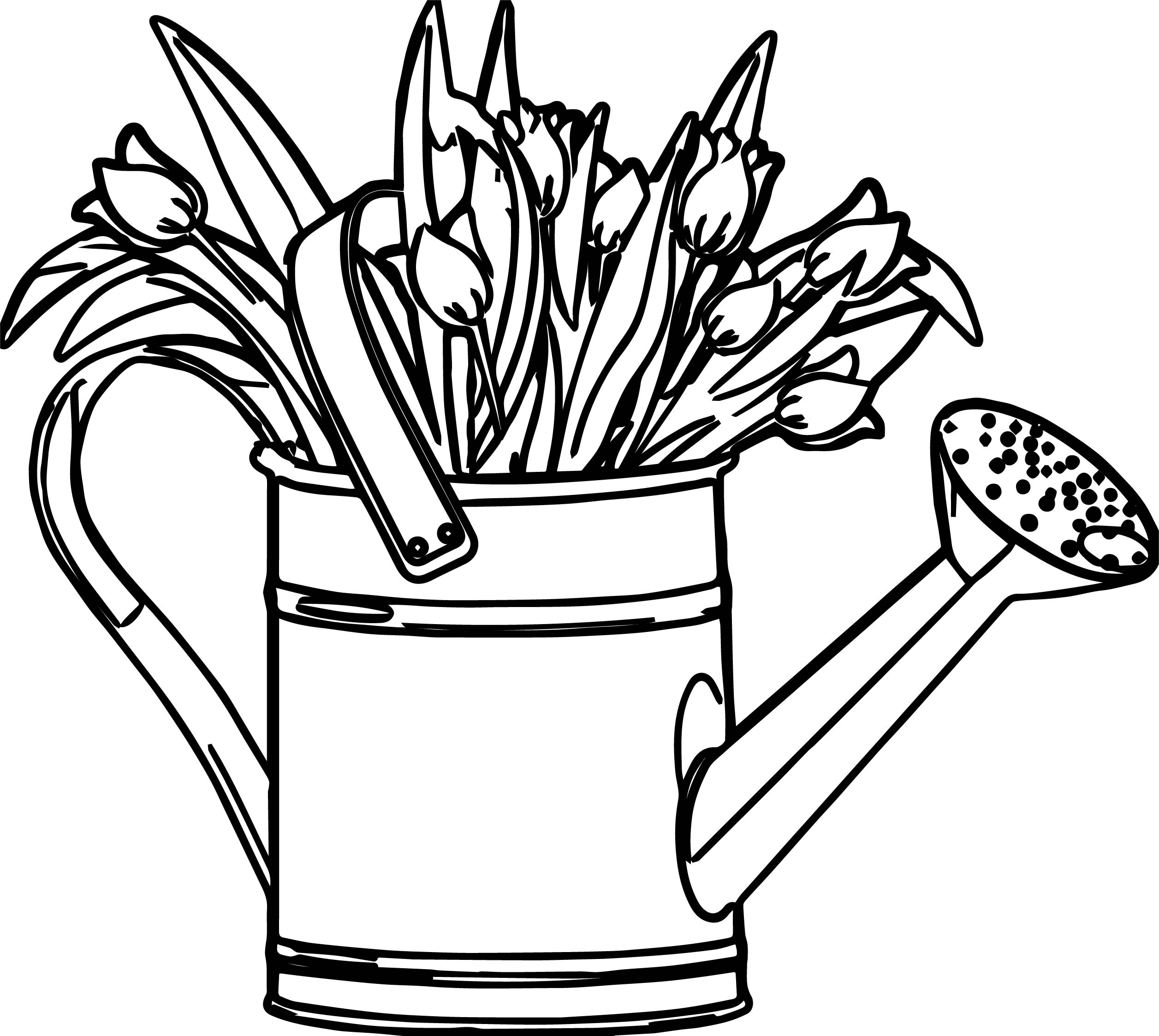 April Shower Bucket Coloring Page Wecoloringpage