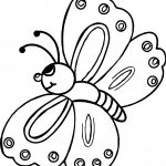 April Shower Butterfly Coloring Page