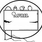 April Shower Circle Border Frame Coloring Page