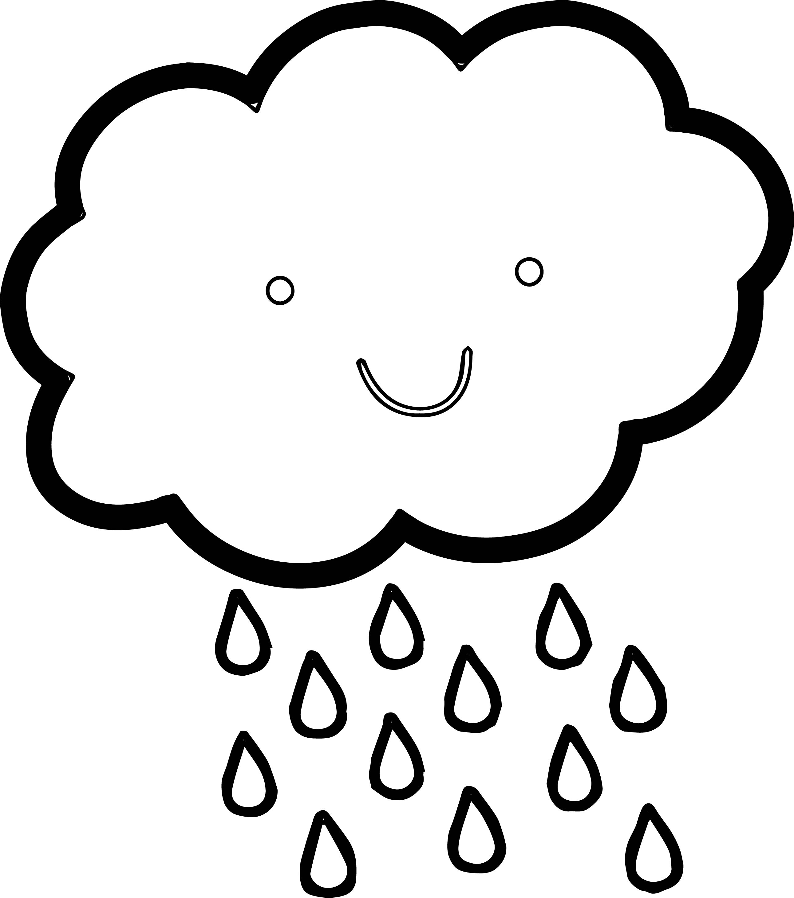 April Shower Cloud Coloring Page