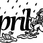 April Shower Duck Coloring Page