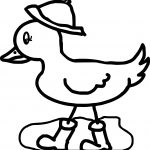 April Shower Duck Walking Coloring Page