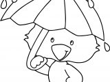 April Showers Duck Coloring Page
