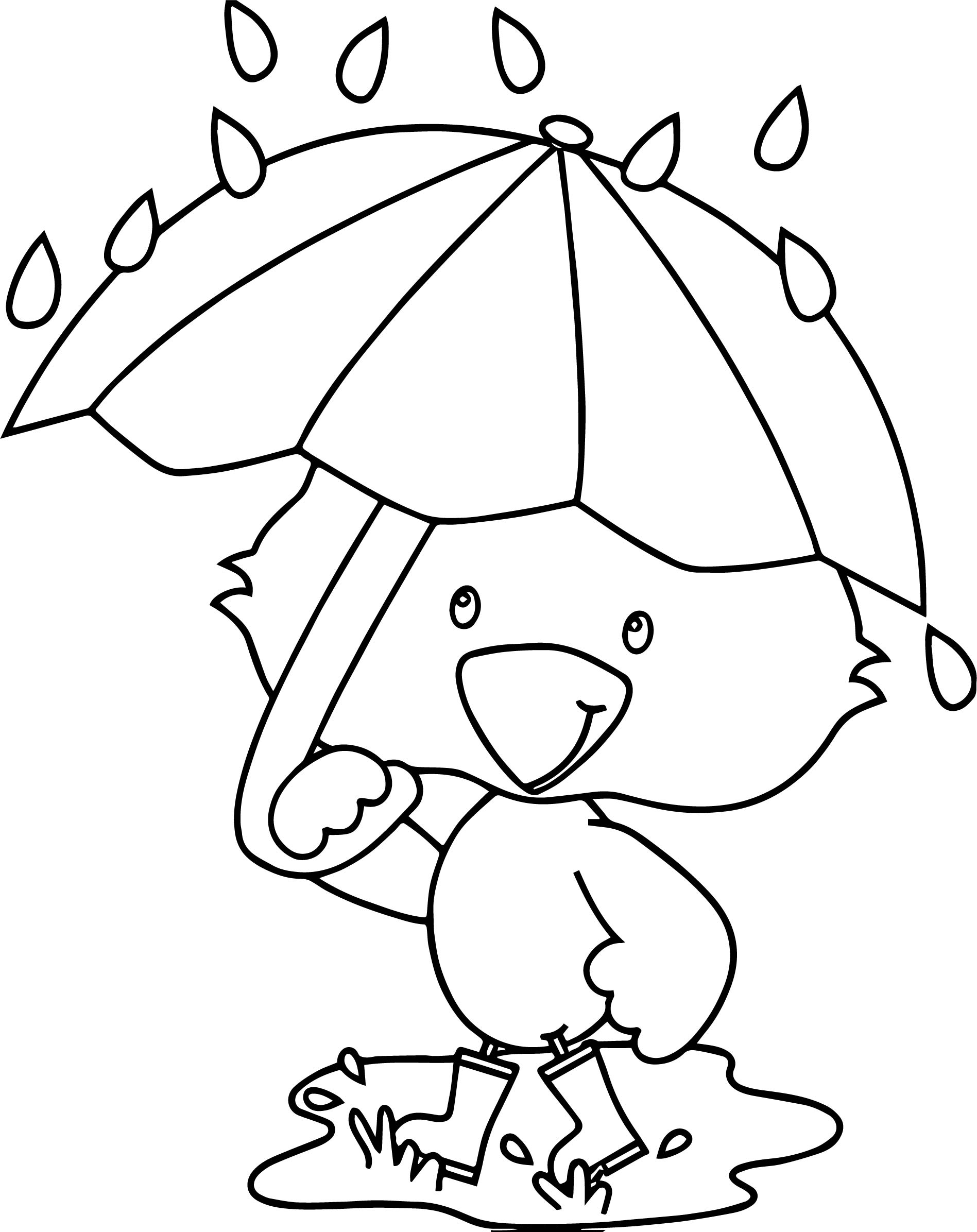 april showers free coloring pages | April Showers Duck Coloring Page | Wecoloringpage.com