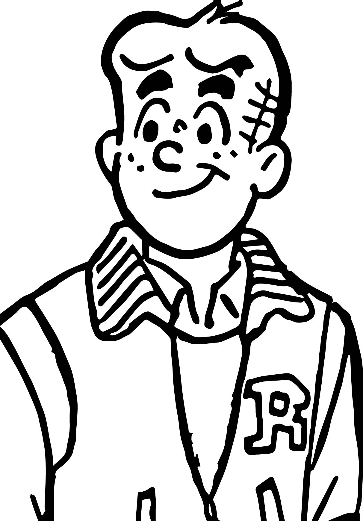 Archie Casting Coloring Page