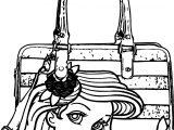 Ariel Mermaid Bag Coloring Page