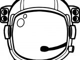 Astronaut Helmet Coloring Page