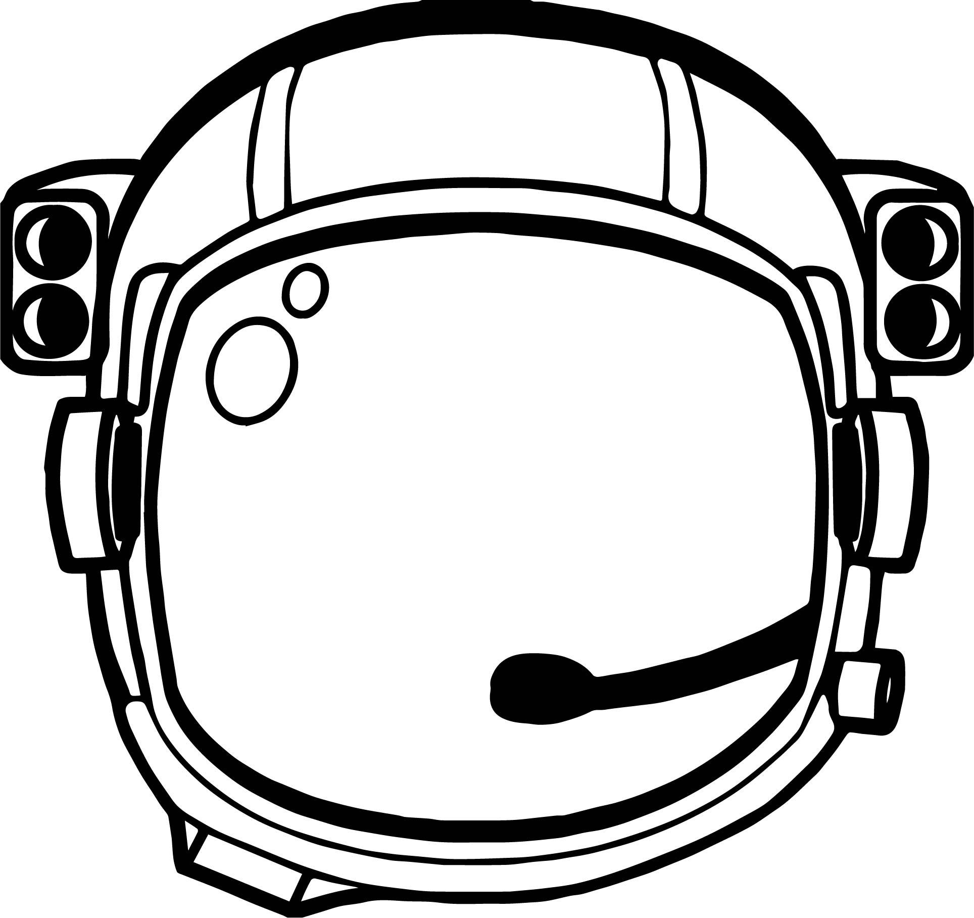 Astronaut Helmet Coloring Page