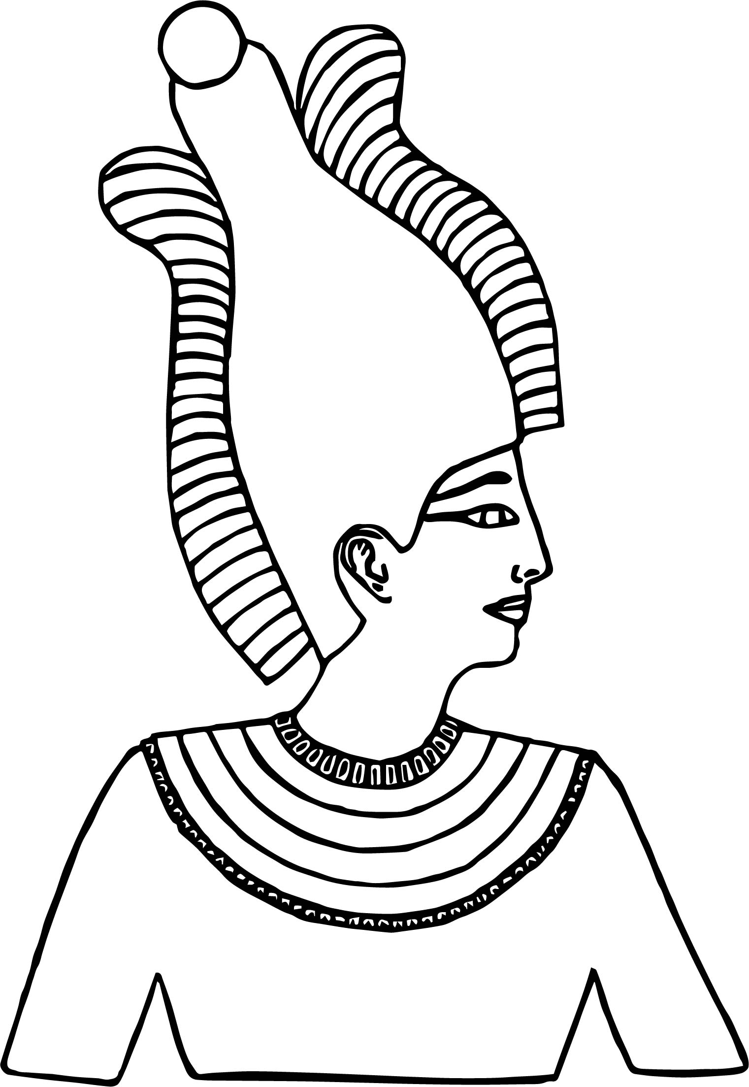 atef crown coloring page - Crown Coloring Page