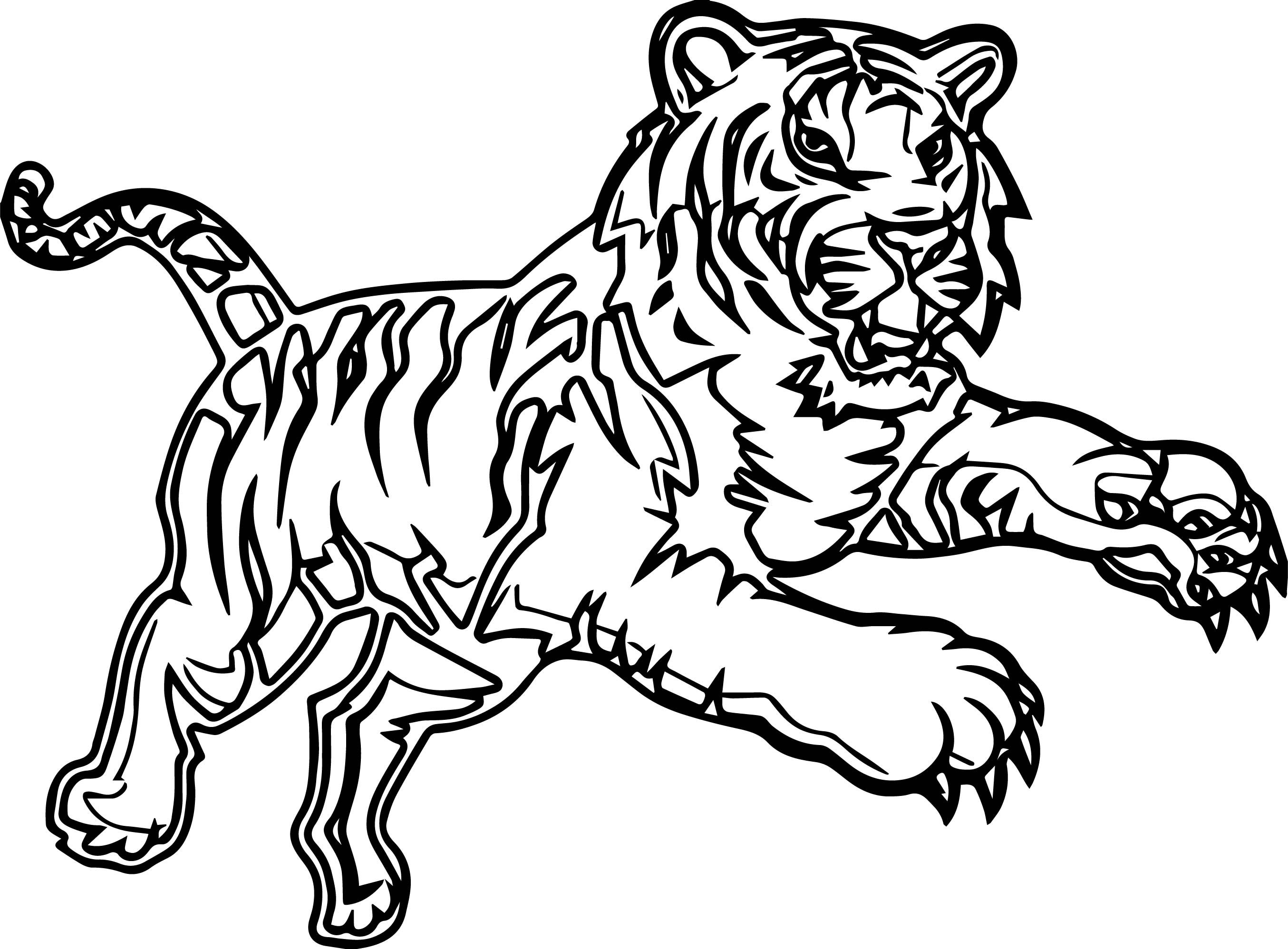 Attack Time Tiger Coloring Page