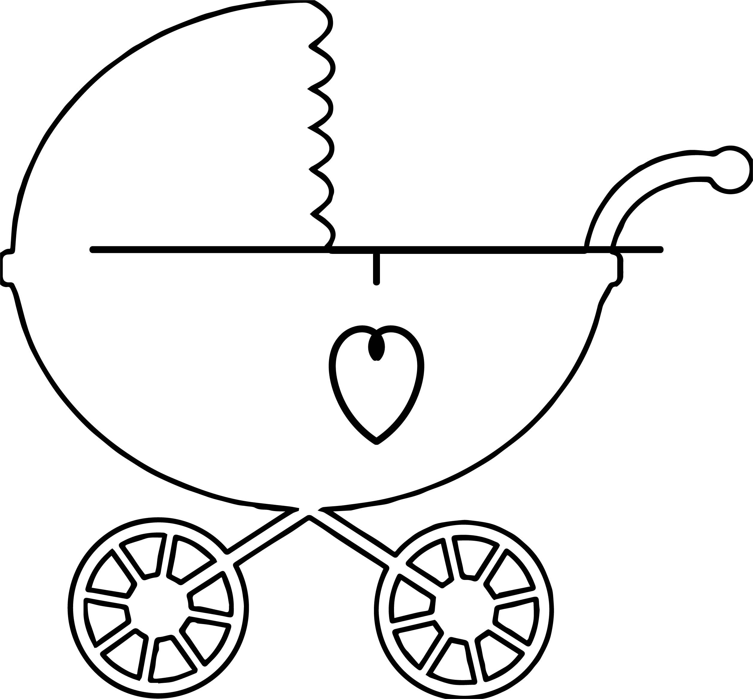 Baby Boy Car Coloring Page Wecoloringpage