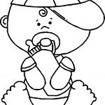 Baby Boy Drink Milk Coloring Page