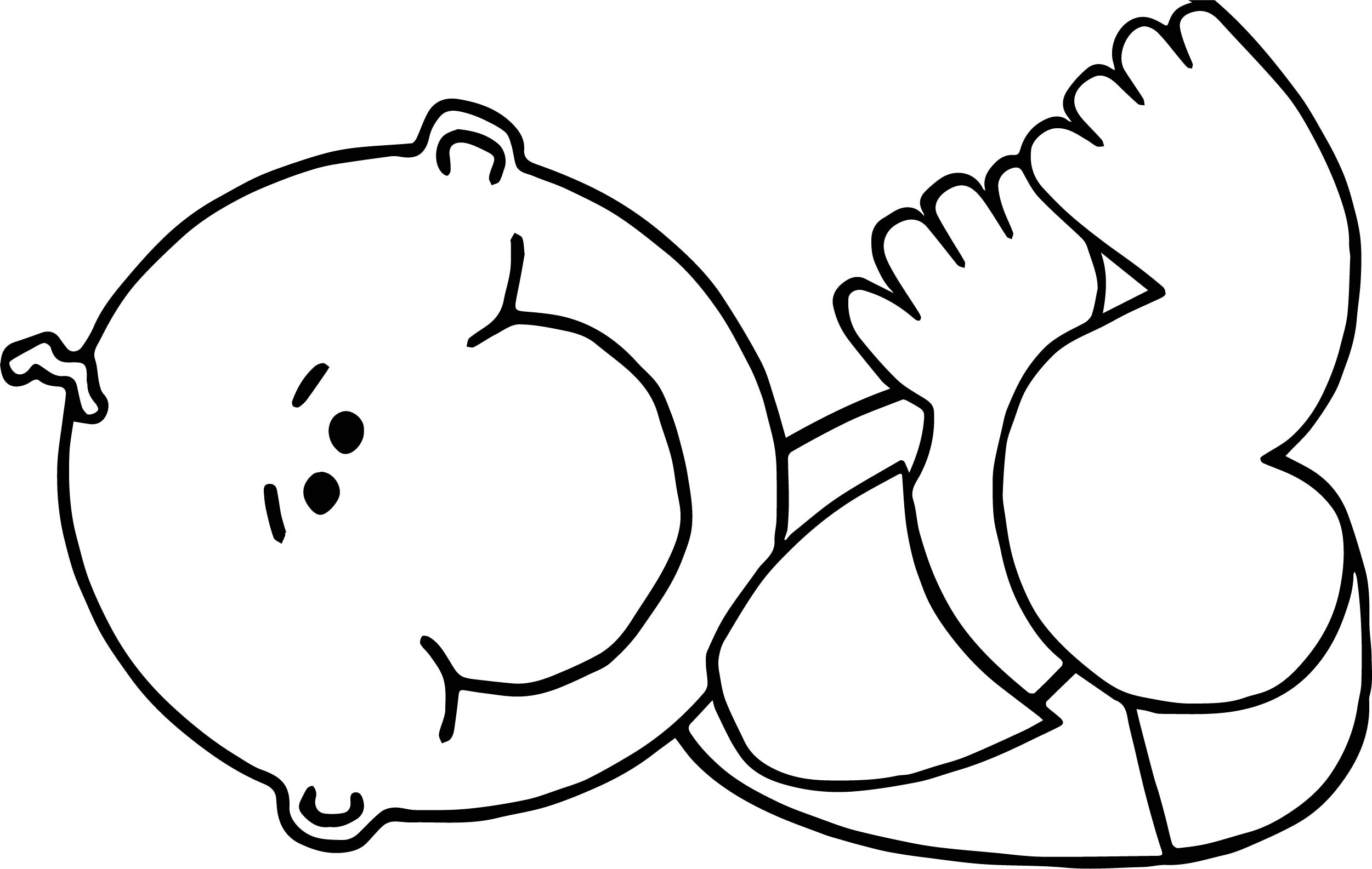 baby boy lying coloring page