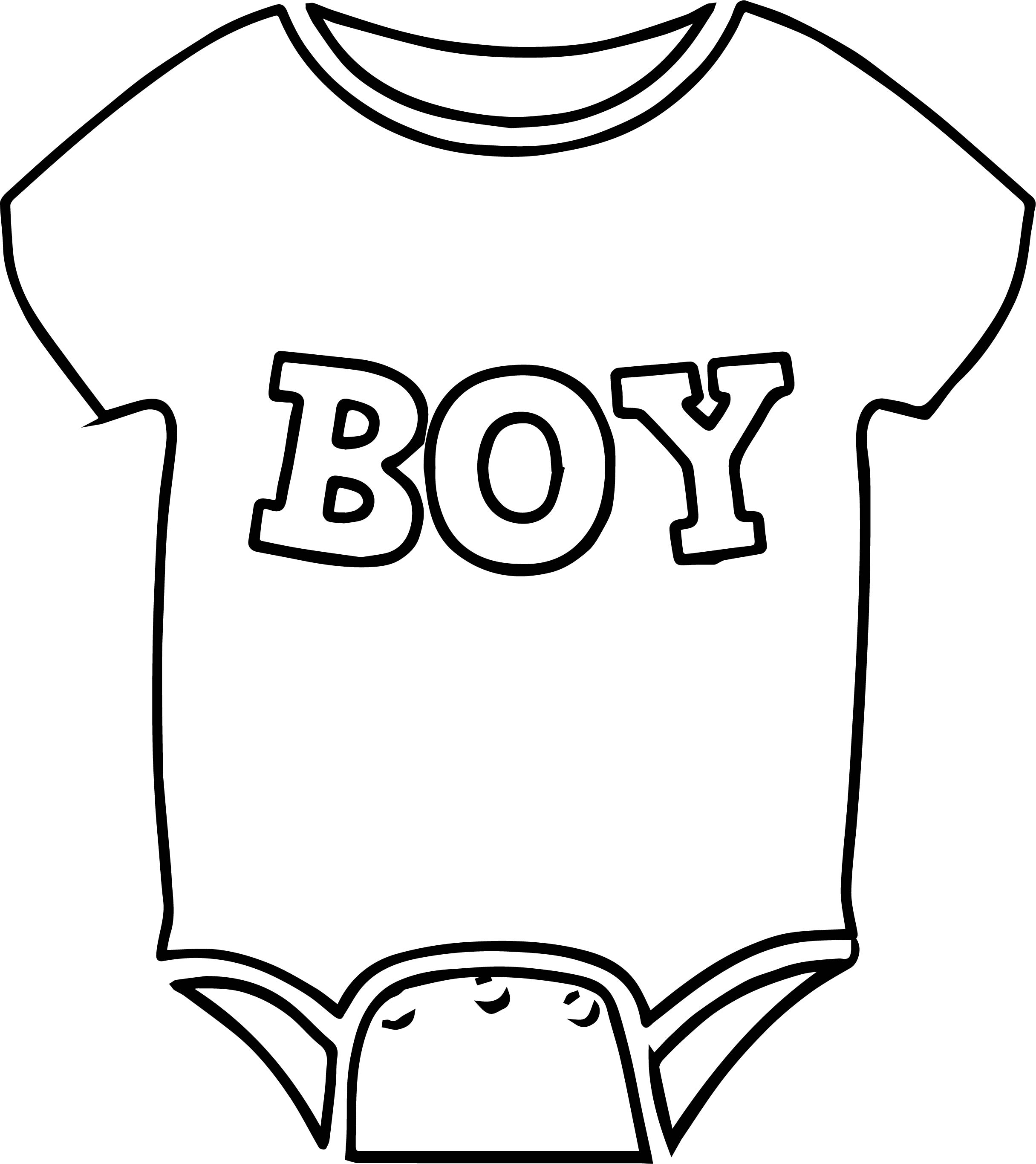 coloring page of a baby - baby boy shirt coloring page