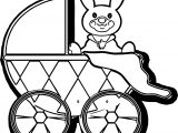 Baby Boy Stroller Free Art Images Coloring Page
