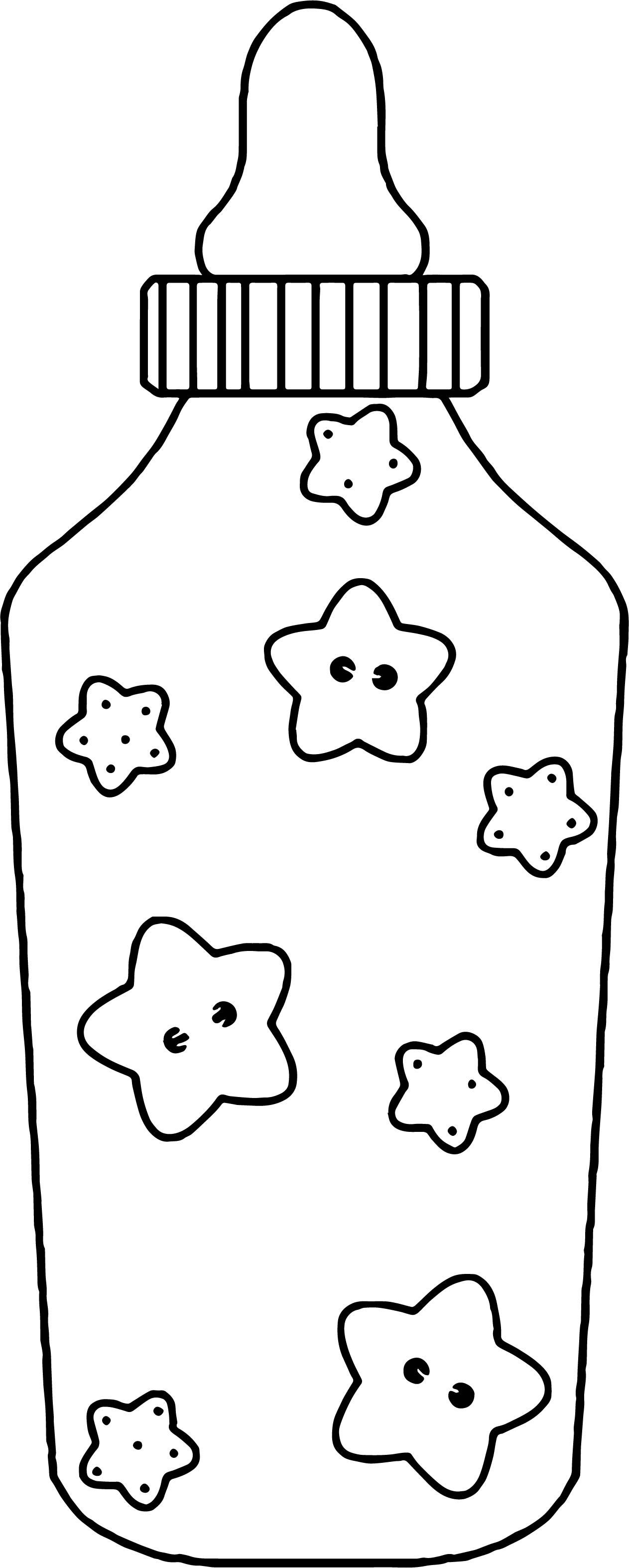 Baby Feeding Bottle Coloring Page