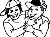 Best Friends Boys Smile Coloring Page