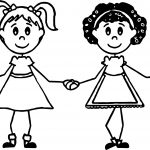 Best Friends Girls Coloring Page