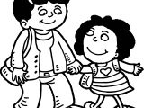 Best Friends Mother Girl Coloring Page