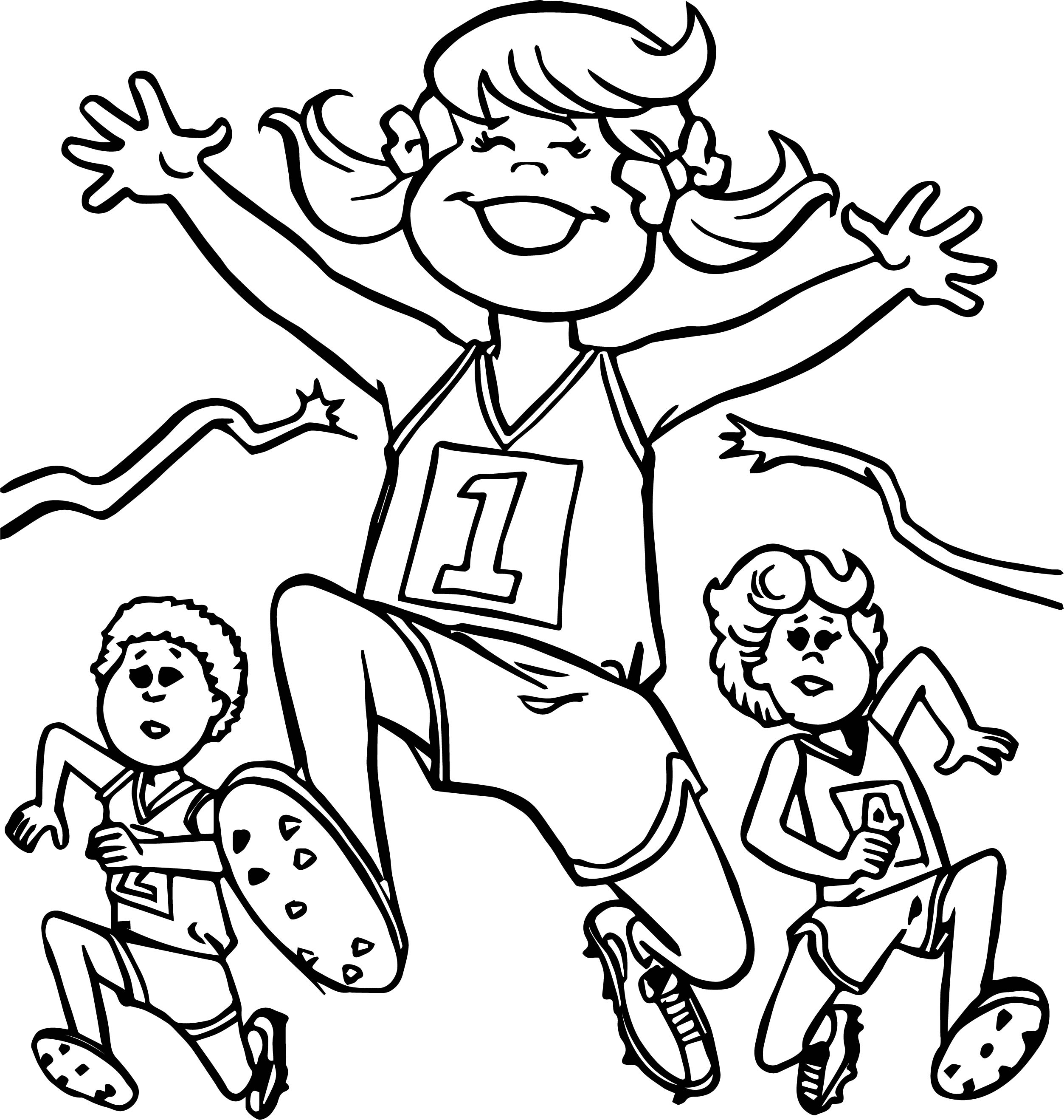 Best Friends Running Coloring Page