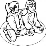 Best Friends Together Coloring Page