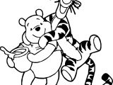 Best Friends Winnie Tigger Coloring Page
