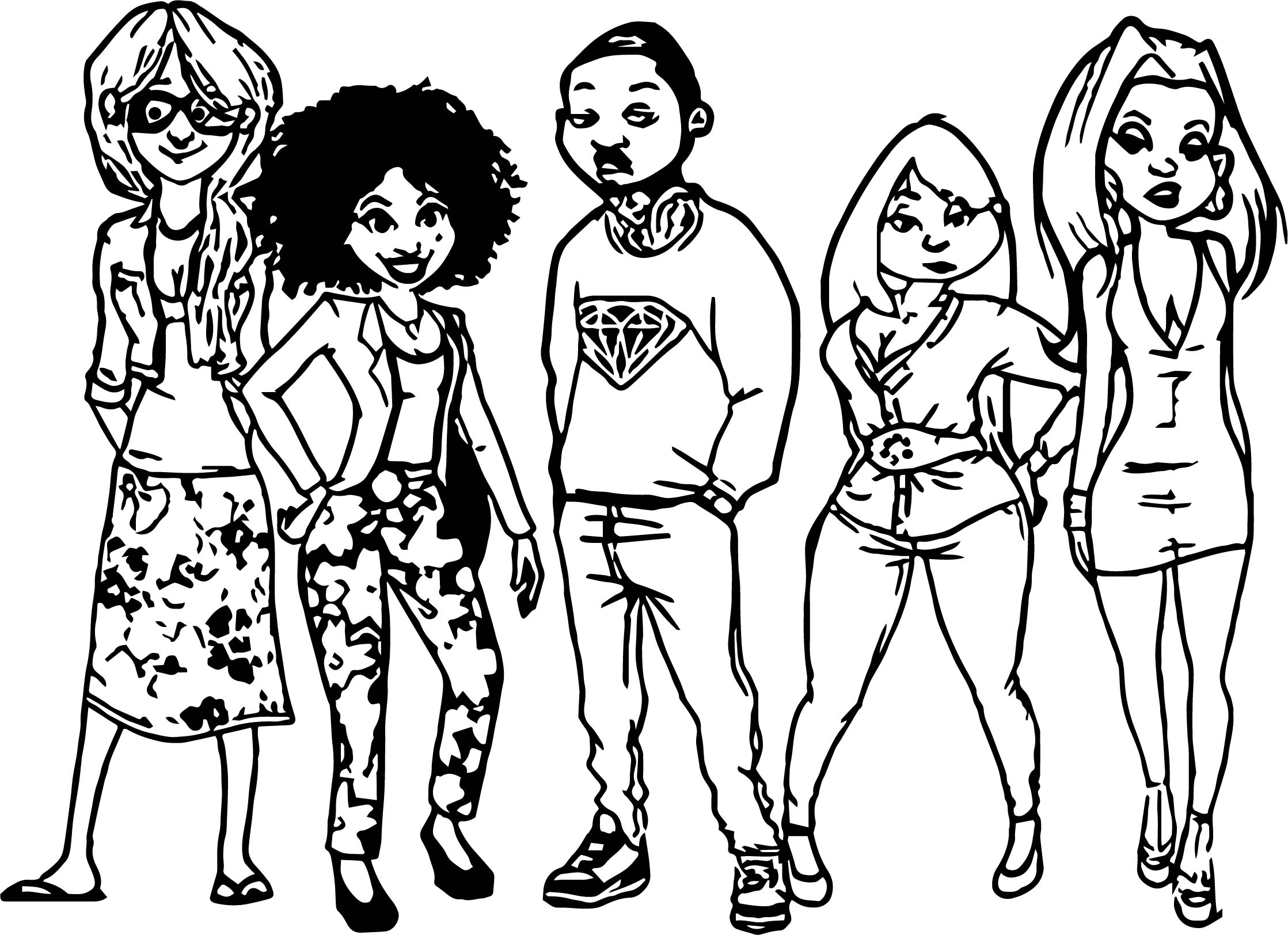Big All Grown Up Coloring Page