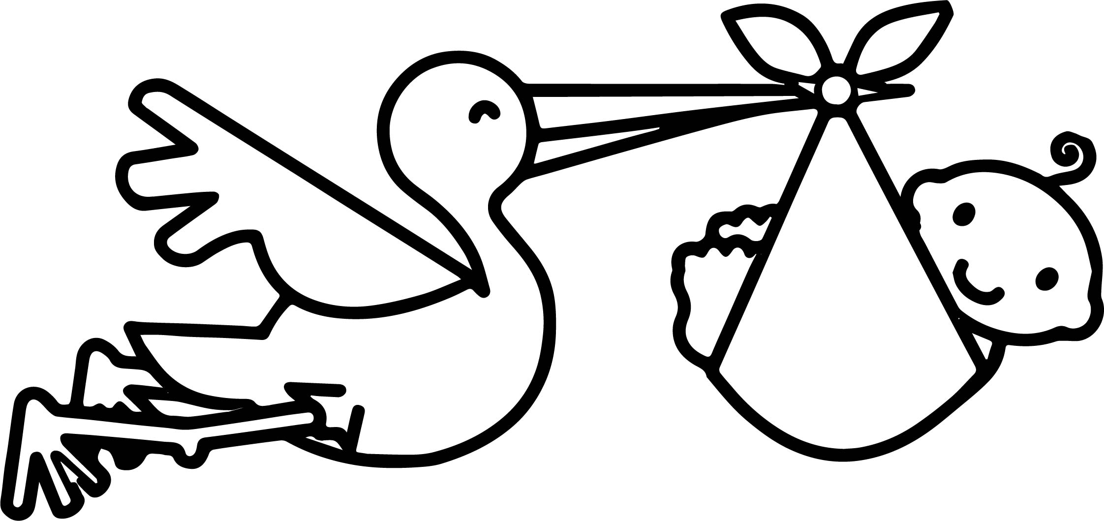 Bird And Baby Shower Pictures Coloring Page