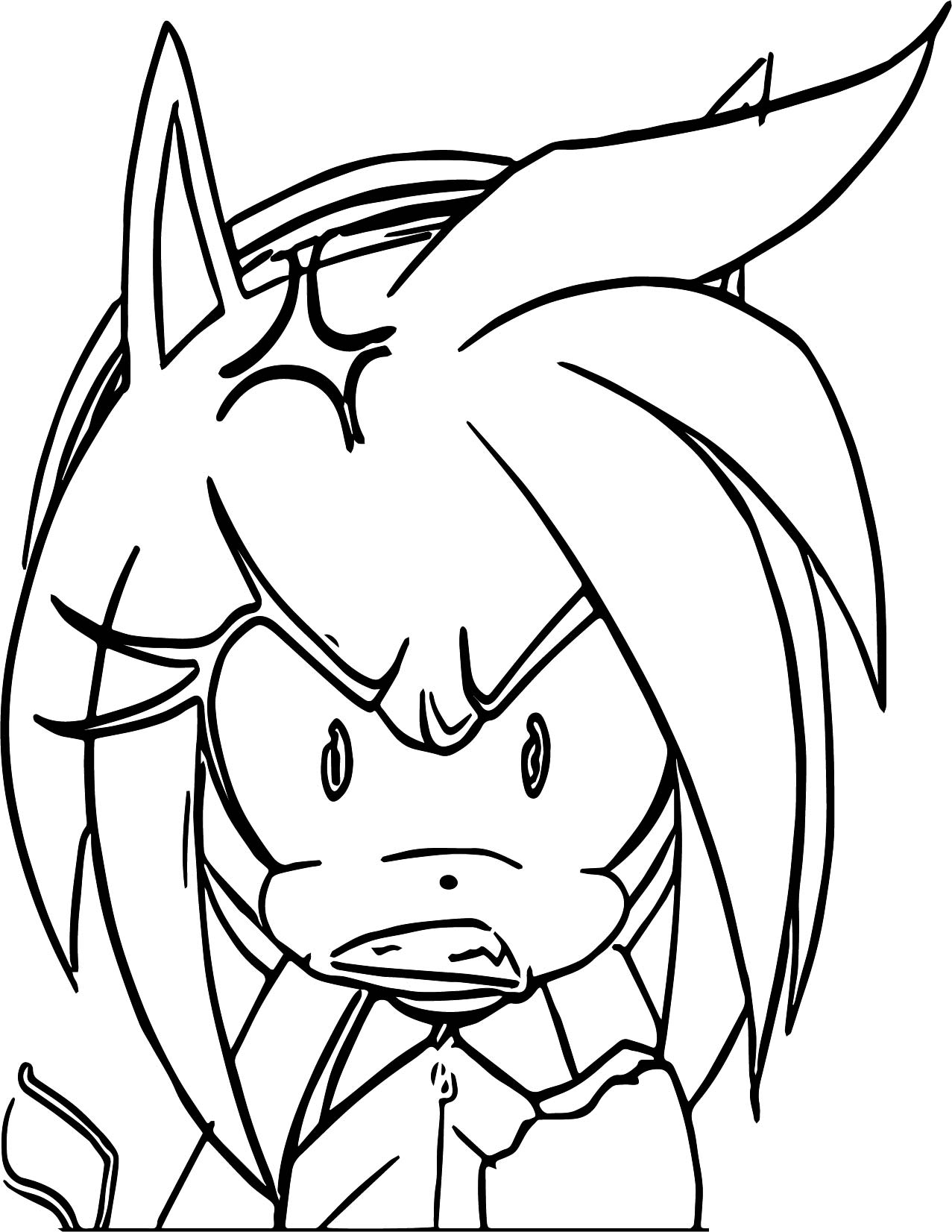 Bitter Amy Rose Coloring Page