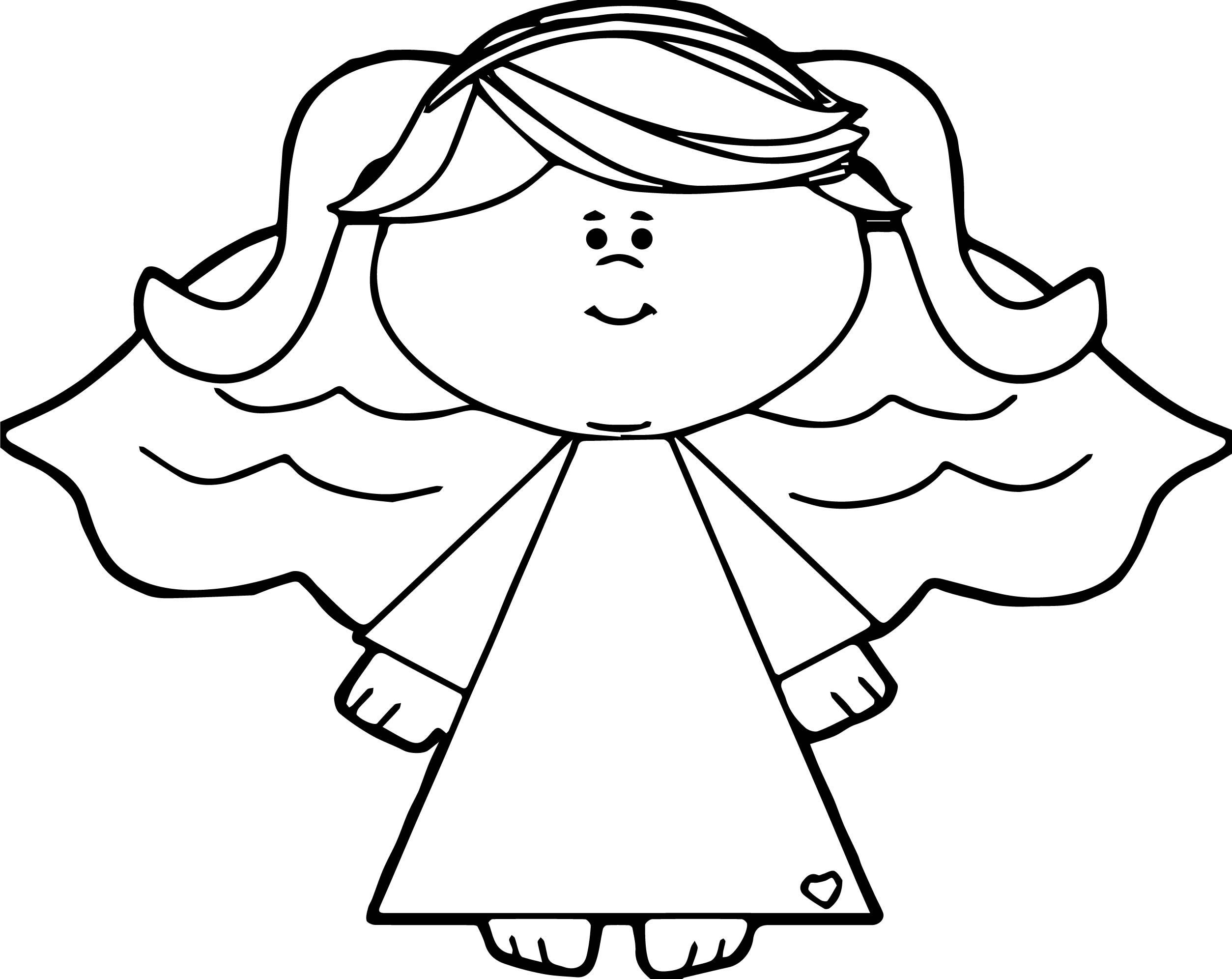 Black Angel Coloring Page